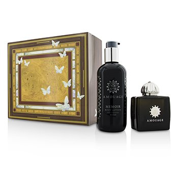 Amouage Memoir Coffret: Eau De Parfum Spray 100ml/3.4oz+ Body Lotion 300ml/10oz