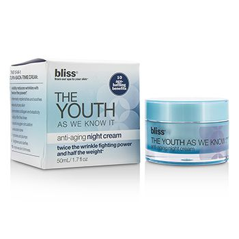 Bliss The Youth As We Know It Anti-Aging Night Cream (Box Slightly Damaged)