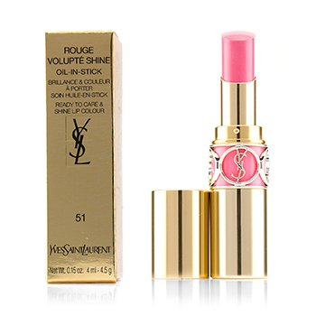 Yves Saint Laurent Rouge Volupte Shine Oil In Stick - # 51 Rose Saharienne