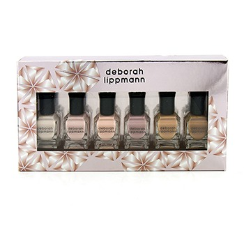 Deborah Lippmann Undressed Shades Of Nude Nail Lacquer Set: 6x Nail Lacquer (Flesh For Fantasy, Totally Nude, Born This Way, Bare It All, Natural Woman, Skin Deep)