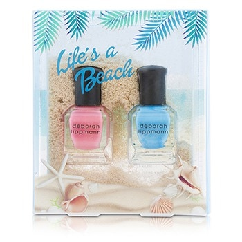 Deborah Lippmann Lifes A Beach Nail Lacquer Set: 2x Nail Lacquer (The Tide Is High, Break 4 Love)
