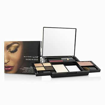 Maybelline Make Up Kit (4x Shadows, 1x Highlighter, 1x Blush, 1x Eye Liner, 1x Lip Color) - Gilded In Gold