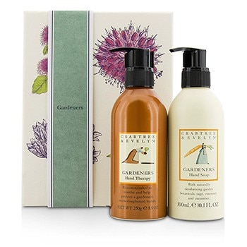 Crabtree & Evelyn Gardeners Hand Care Duo: Hand Soap 300ml/10.1oz + Hand Therapy 250g/8.8oz