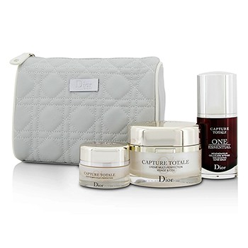 Christian Dior Capture Totale Deep Global Age-Defying Day Ritual Set: Multi-Perfection Creme 60ml+One Essential 30ml+Eye Treatment 15ml+Bag