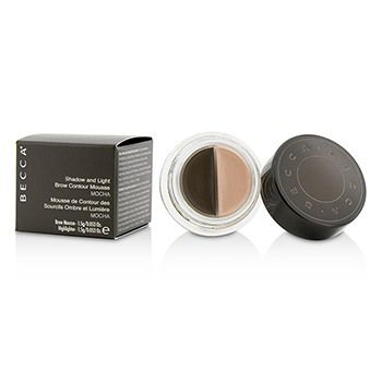 Becca Shadow And Light Brow Contour Mousse (1x Brow Mousse, 1x Highlighter) - Mocha