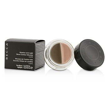 Becca Shadow And Light Brow Contour Mousse (1x Brow Mousse, 1x Highlighter) - Cafe