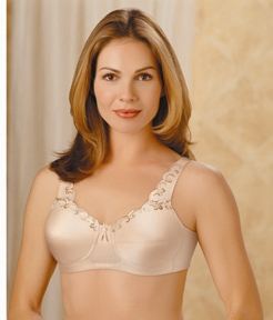 Trulife (Camp) Softcup with Lace Accents at Neckline Bra