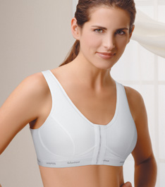 Trulife (Camp) Activity High T-Back Bra w/ Front Hook and Eye Closure