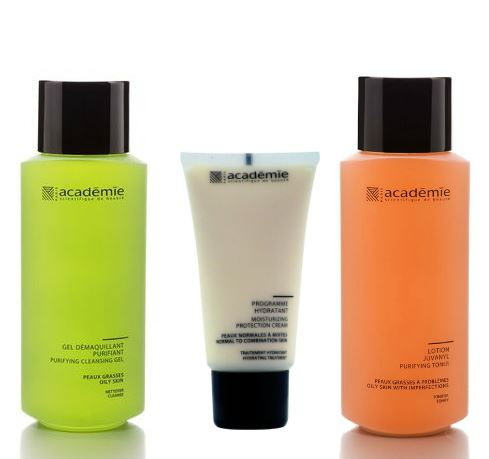 Academie Purifying & Moisturizing Gift Set (Includes: Purifying Toner,  Purifying Cleansing Gel, & Moisturizing Protection Cream)
