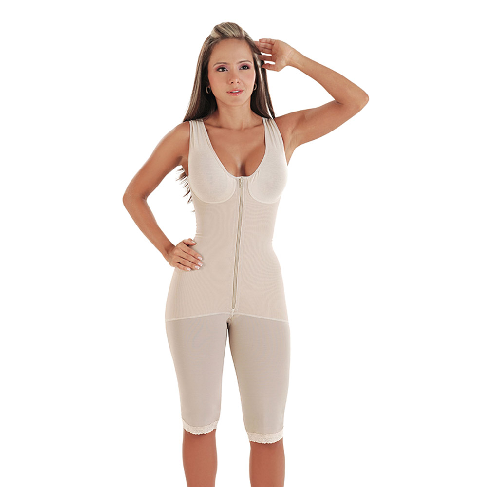 Venuz Extra-Firm Body Shaper W/ Support Bra - Above Knee