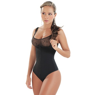Isabel Braless Body Shaper w/ Adjustable Straps & Thong Back