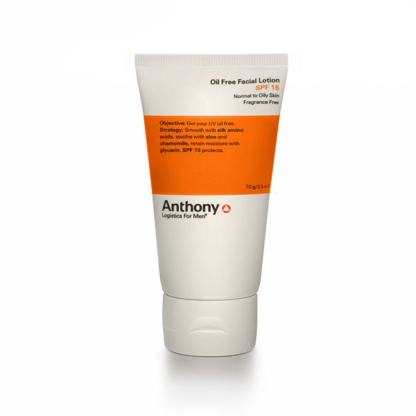 Anthony Logistics Men's Oil Free Facial Lotion SPF 15
