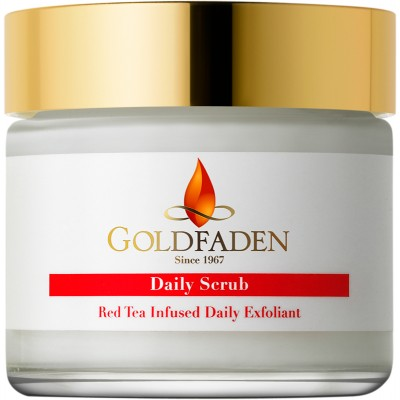 GoldFaden Daily Scrub- With Ruby Crystals (Red Tea-Infused Daily Exfoliant)