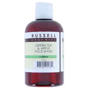 Russell Organics Natural Green Tea and Apple Refining Face Wash