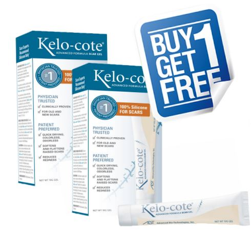 Kelo-cote Scar Healing & Reduction Gel (10g) - Buy one get one free (20 grams total)