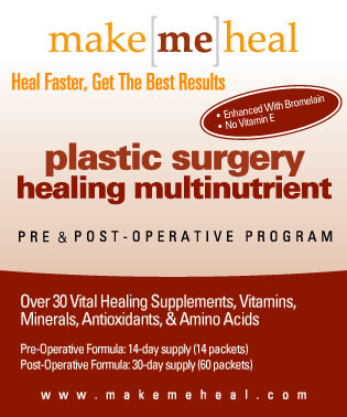 Plastic Surgery Recovery Vitamins, Supplementes