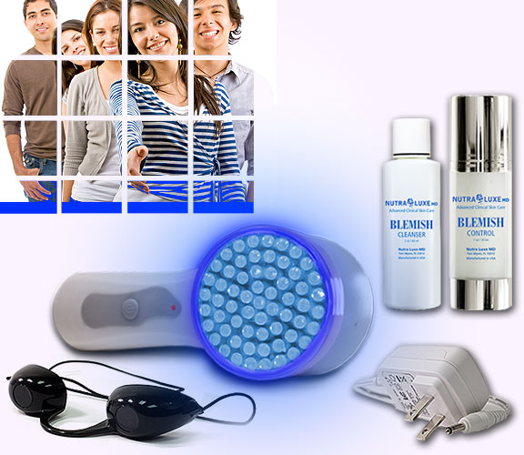 Nutra Luxe Acne Phototherapy Home System - Blue LED Light