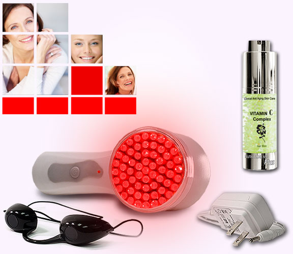 Nutra Luxe Home Phototherapy Anti-Aging Rejuvenation System - Red LED Light