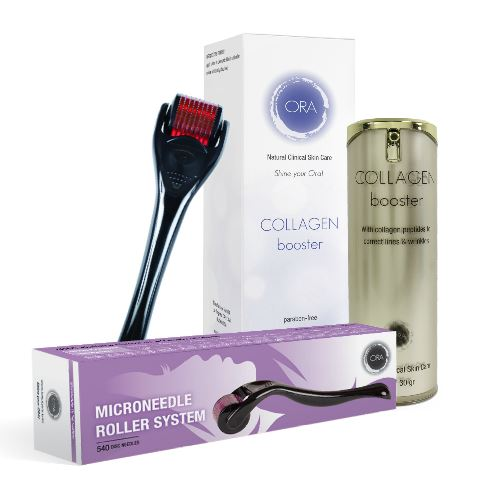 Anti-Aging Ora Roller Set (with Dermal Needle Roller & Collagen Booster Cream)