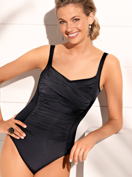 Amoena Tampa Drapped Swim Tank (Mastectomy)