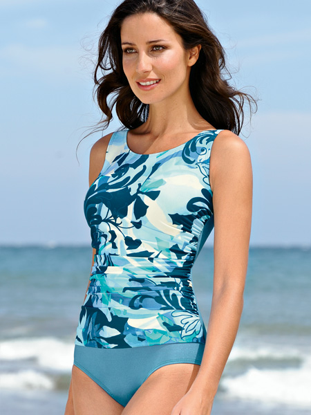 Amoena San Jose Side Shirred Tank Swimsuit