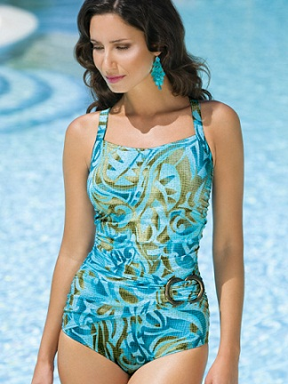 Amoena Santiago FB Side Buckle Tank Swimsuit