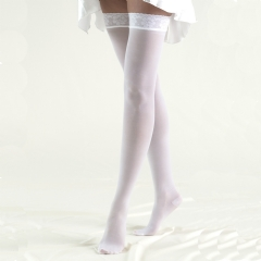 Truform Unisex Thigh High Tru-Sheer Compression Stockings (Closed Toe) - 264