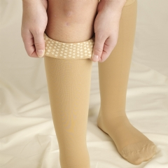 Truform Unisex Below the Knee Compression Stockings w/ Silicone Band (Open or Closed Toe) - 0844