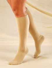 Truform Ladies Trouser Comfort Casual Knee-High Support Socks (10-20 mmHg, Closed Toe) - 1963