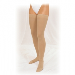 Truform Unisex Thigh High Compression Stockings w/ Stay-Up Beaded Tracking Top (Closed Toe) - 8868