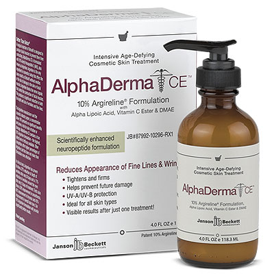 AlphaDerma CE Anti-Aging Cream (4 oz) - with Alpha Lipoic Acid, DMAE, Argireline, Collagen