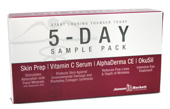 5-Day Anti-Aging Sample Pack (Alphaderma, Facial Prep, OkuSil, Vitamin C)