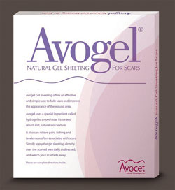 "Avogel 4""x4"" Scar Reduction Hydrogel Sheet - Triple Pack"