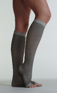 Juzo Unisex Silver Knee-High Compression Stockings - (20-30 & 30-40 mmHg, Open Toe)