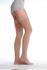 Juzo Soft 2001/2 Thigh-High Compression Stockings w/Border - Unisex (20-30 & 30-40 mmHg, Open Toe)