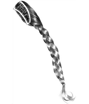 Braid It Hair Banana Comb by Look of Love Pony Express Collection