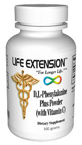 Life Extension Dl Phenylalanine Plus 100 grams Powder