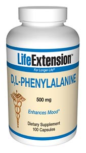 Life Extension Dl Phenylalanine 100 500 mg Capsules