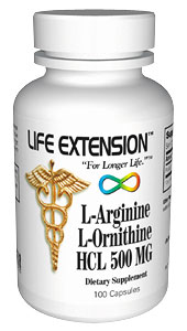 Life Extension Arginine/Ornithine 100 500 mg Caps