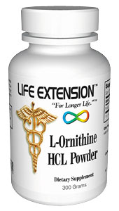 Life Extension Ornithine Hcl 300 grams Powder