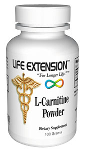 Life Extension Carnitine 100 grams Powder