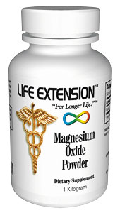 Life Extension Magnesium Oxide 1 kilo Powder