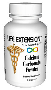 Life Extension Calcium Carbonate I kilo Powder