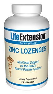 Life Extension Zinc 75 1.5 grams Lozenges