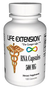 Life Extension Rna 100 500 mg Capsules