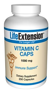 Life Extension Vitamin C  250 1000 mg Capsules