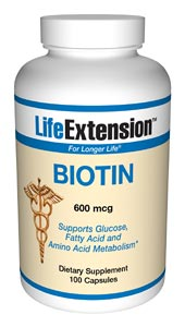 Life Extension Biotin 100 600 mg Capsules