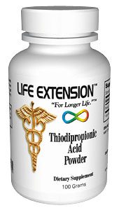 Life Extension Thiodipropionic Acid Powder 100 Grans