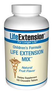 Life Extension Childrens 100 Chewable Tablets