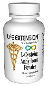 Life Extension Cysteine Anhydrous  300 grams Powder